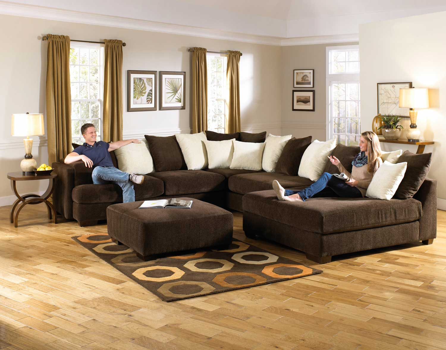 axis sofa reviews beds next day delivery london jackson large sectional set - chocolate jf-4429 ...