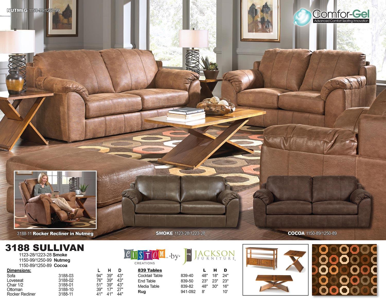 parker leather sofa reviews orson jackson sullivan set - nutmeg jf-3188-sofa-set-nutmeg ...