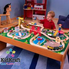 Thomas The Train Table And Chairs Mini Rocking Chair Kidkraft Ride Around Town Set With