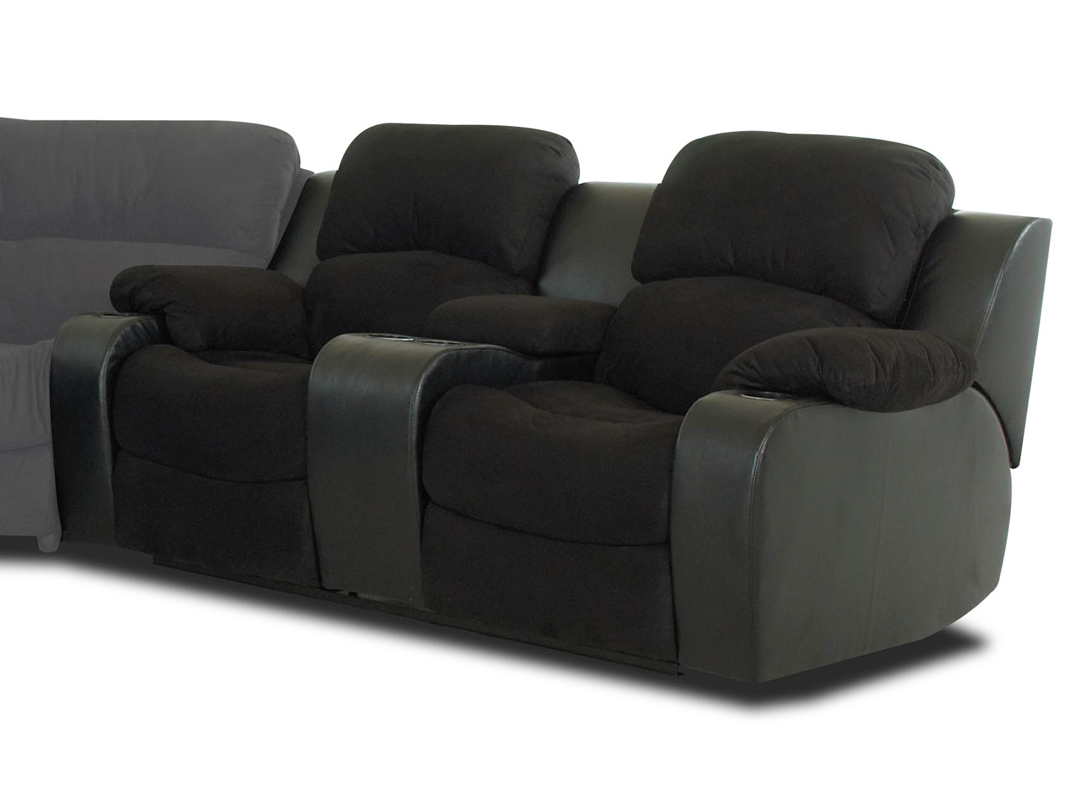 klaussner grand power reclining sofa best with dogs loveseat console