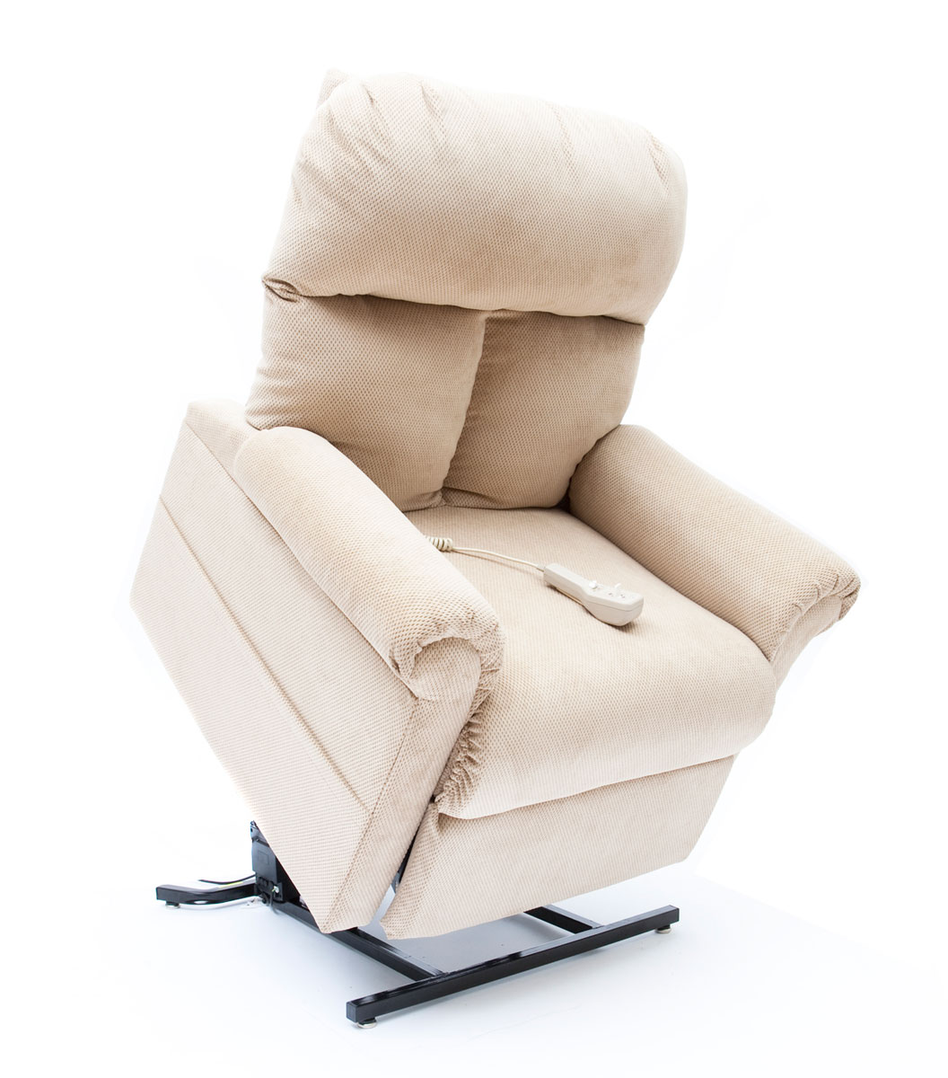 infinite position recliner power lift chair polyester covers for sale mega motion lc 100 chaise