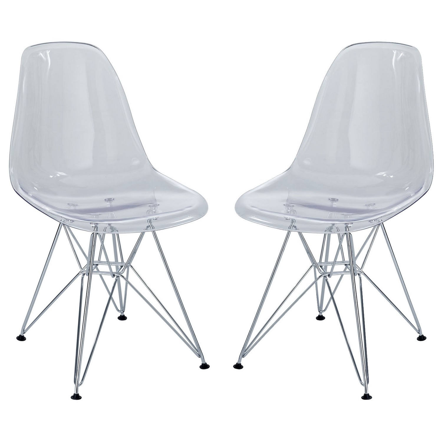 paris side chair swivel cartoon modway dining set of 2 clear mw eei