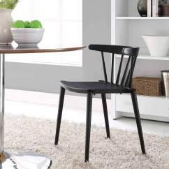 Black Spindle Chair Unfinished Wood Kitchen Chairs Modway Dining Side Mw Eei 1494 Blk