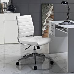 Armless Chair Office Bath For Disabled Adults Modway Jive Mid Back White Mw Eei