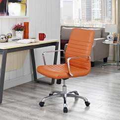 Office Chair Orange Papasan Cover Etsy Modway Finesse Mid Back Mw Eei 1534