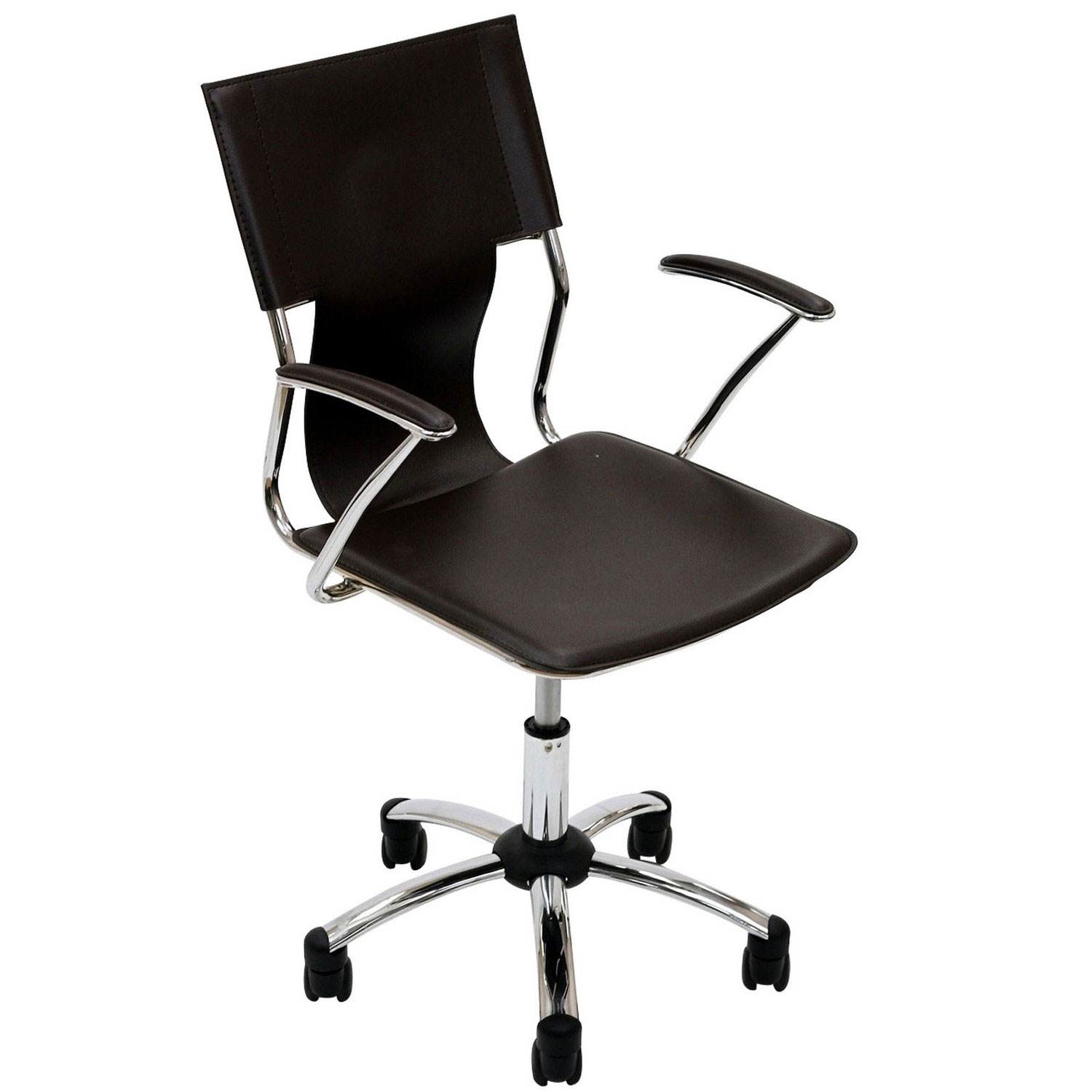 modway office chair white wooden folding chairs studio brown mw eei 198 brn at