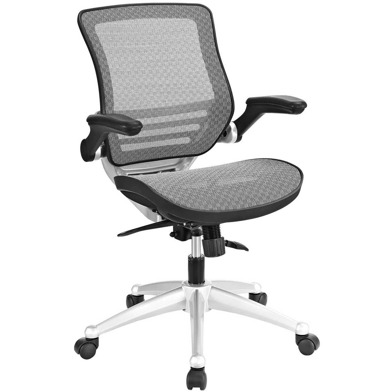 modway office chair disc golf edge all mesh gray mw eei 2064 gry