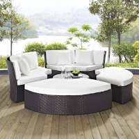 Modway Pursuit Circular Outdoor Patio Daybed Set ...