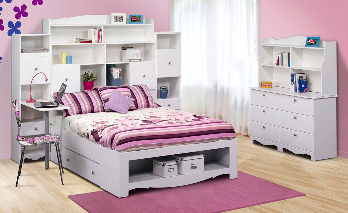 Nexera Pixel Youth Full Size Tall Bookcase Storage Bedroom