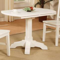 Drop Leaf White Kitchen Table Ashley Furniture Chairs Wood With Drawer Types Of