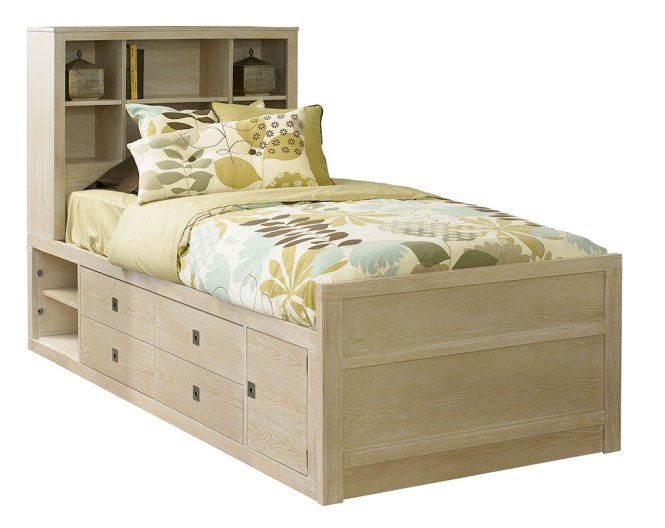 Powell Cassidy Washed Teak Youth Storage Bed
