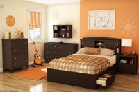South Shore Clever Room Bedroom Set - Mocha 3579-SET at ...