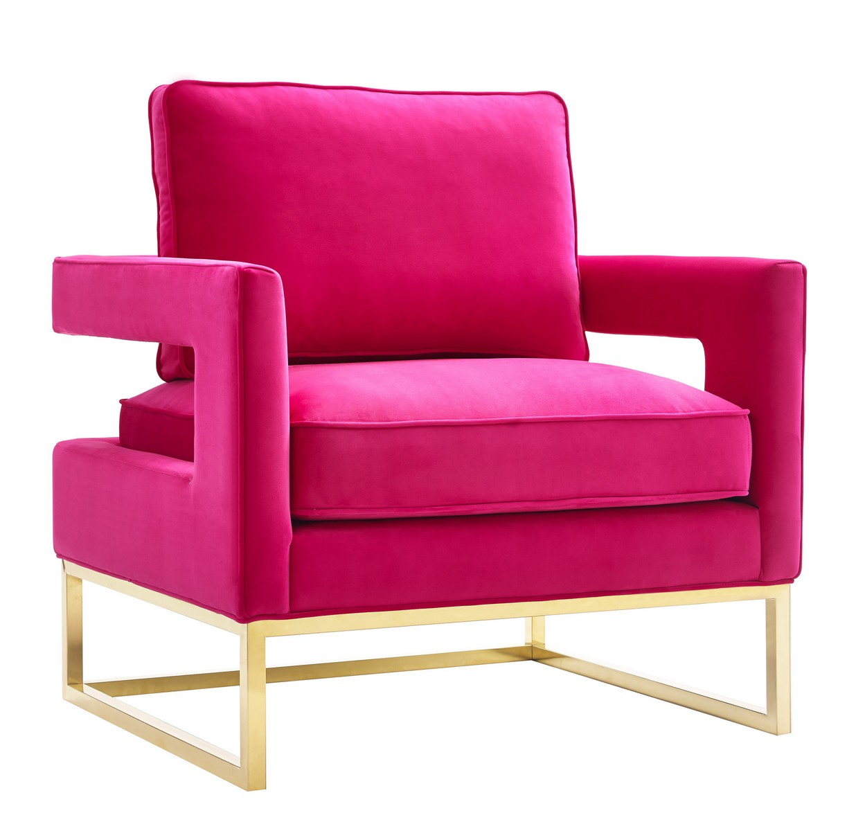 velvet armchair pink hanging chair bamboo tov furniture avery a120 at homelement