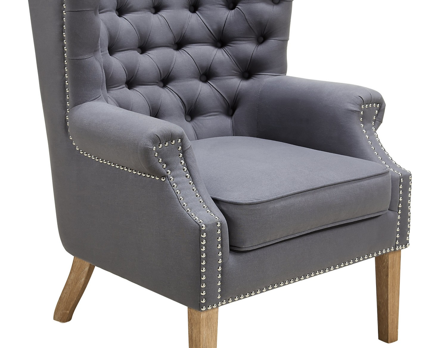 grey wing chair hanging outdoor ikea tov furniture abe linen a2040 at