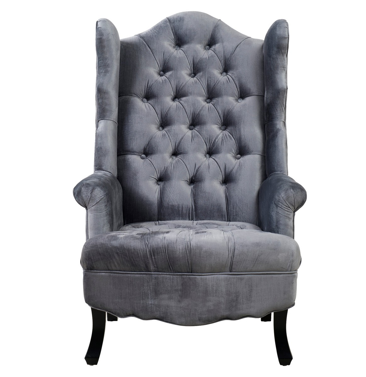 grey wing chair foldaway picnic table and chairs tov furniture madison velvet a35 at