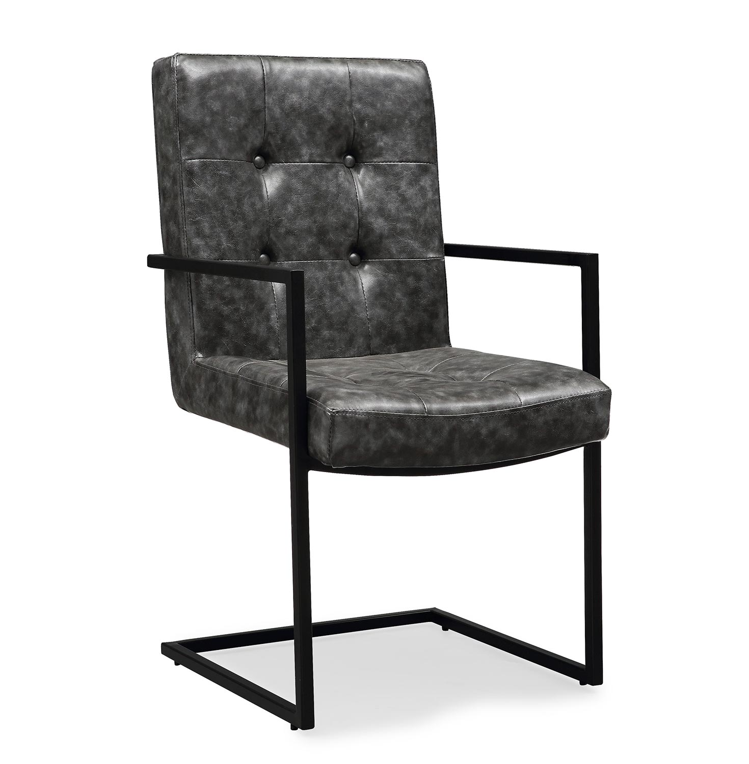 grey arm chair resin adirondack chairs lowes tov furniture stanley black g5468 at