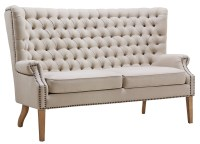TOV Furniture Abe Beige Linen Wing Loveseat S2064 at ...