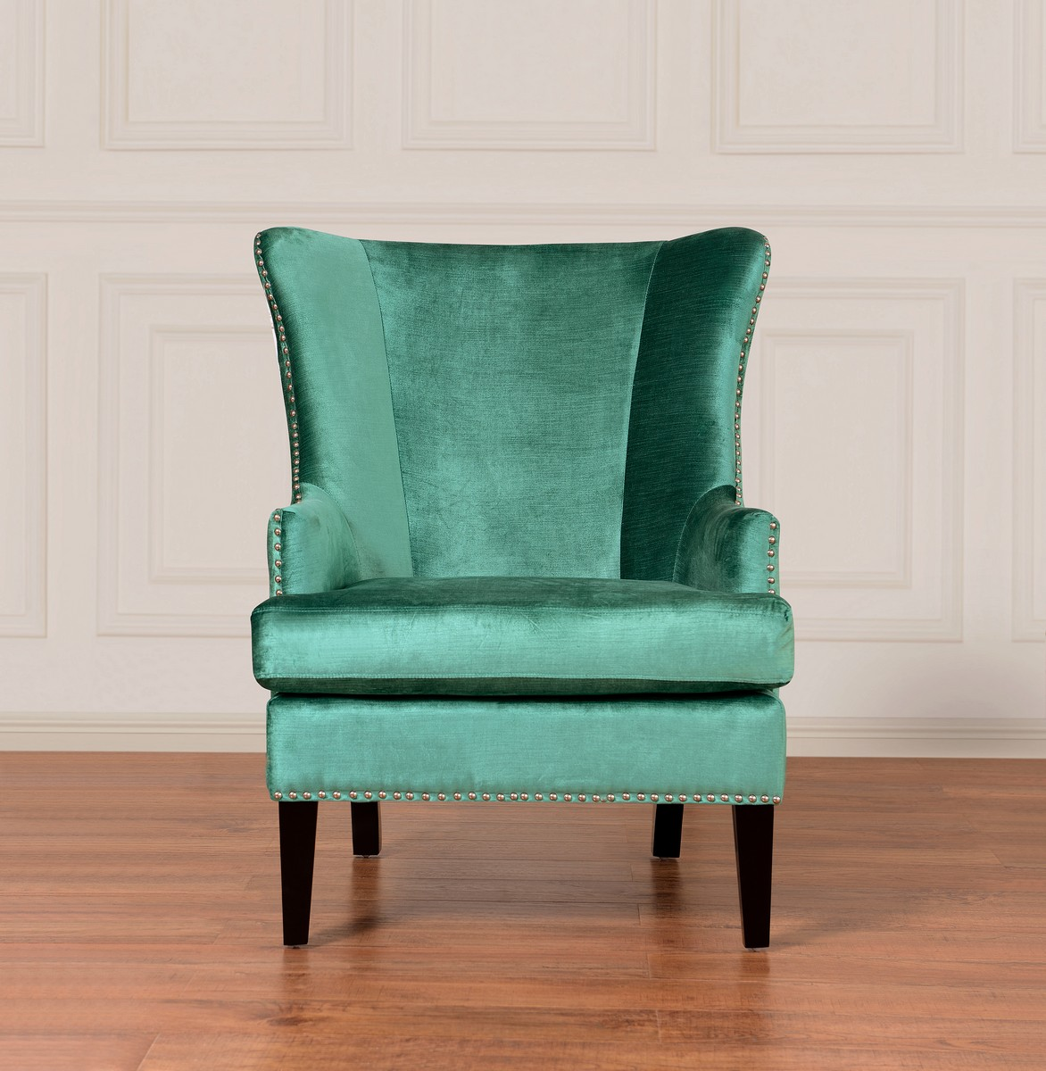 turquoise wingback chair allsteel acuity tov furniture soho velvet wing wil tv at