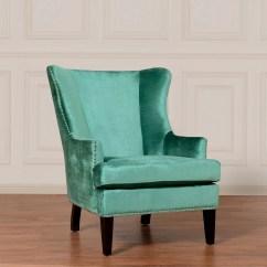 Turquoise Wingback Chair Stool For Vanity Tov Furniture Soho Velvet Wing Wil Tv At