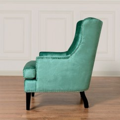 Turquoise Wingback Chair Office Depot Mats Tov Furniture Soho Velvet Wing Wil Tv At