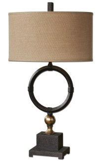 Uttermost Pueblo Black Circle Table Lamp UTTERMOST-26296-1 ...
