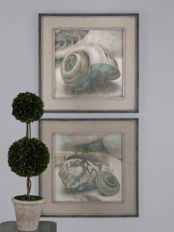 Uttermost Coastal Gems Framed Art - Set Of 2