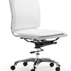 Zuo Swivel Chair Fishing Korum Modern Lider Plus Armless Office - White Zm-215219 At Homelement.com