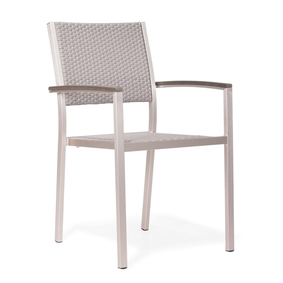 brushed aluminum chairs plastic bar bunnings zuo modern metropolitan dining arm chair