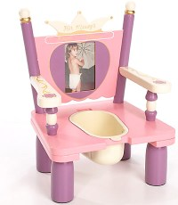 Levels of Discovery Princess Wooden Potty Training Chair ...