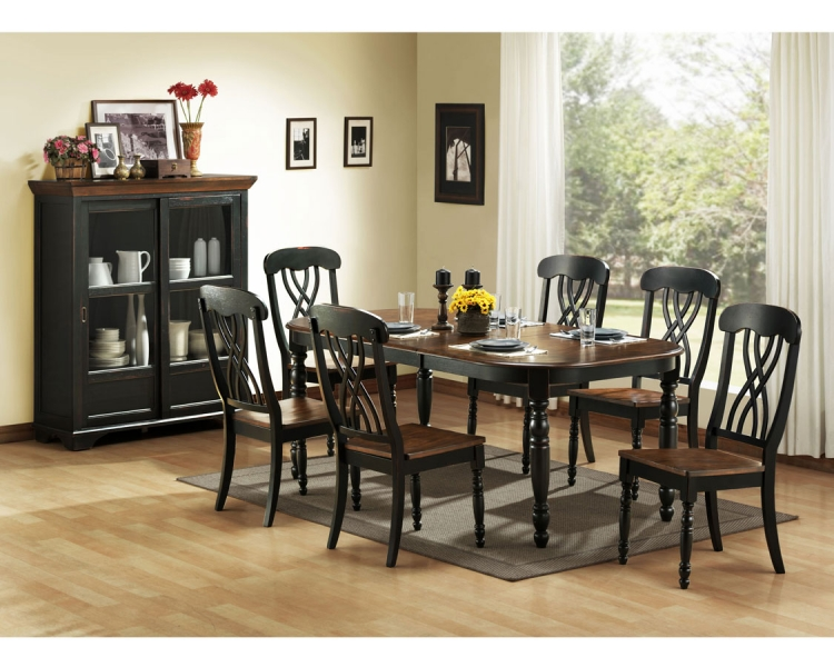 black dining room chair reclining theaters san jose homelegance ohana collection 1393bk din set at homelement com