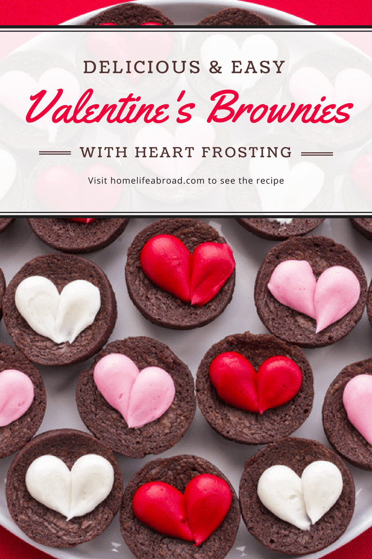 Fudgy Valentines Brownies With Heart Frosting Home Life