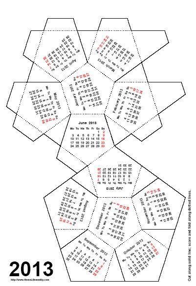 Home Life Weekly » Free Desktop Calendar 2013 How to Make