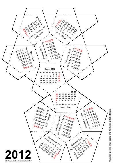 Home Life Weekly » Free Desktop Calendar 2012 How to Make