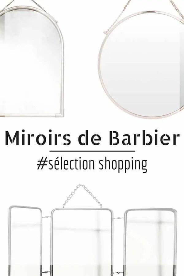 11 Miroirs de Barbier  Dcouvrir  vintage triptyque rond pas cher