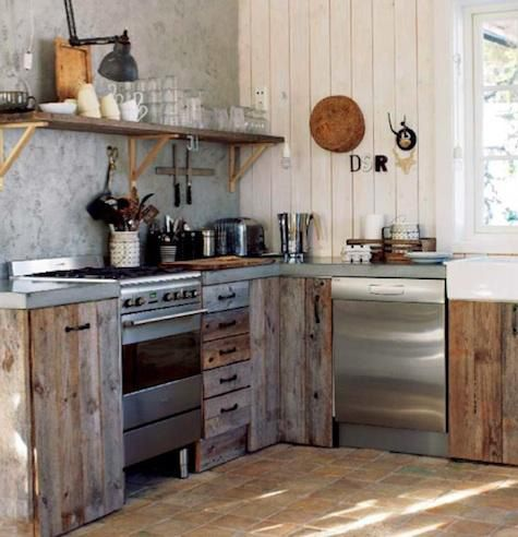 Cuisine Rustique  23 ides  inspirations PHOTOS