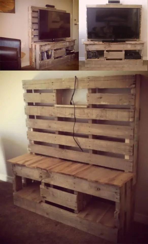 recyclage de palettes pour un meuble tv with meuble chaussure maison du monde
