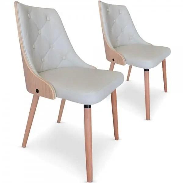 lot de 2 chaises scandinave pas cher cadix
