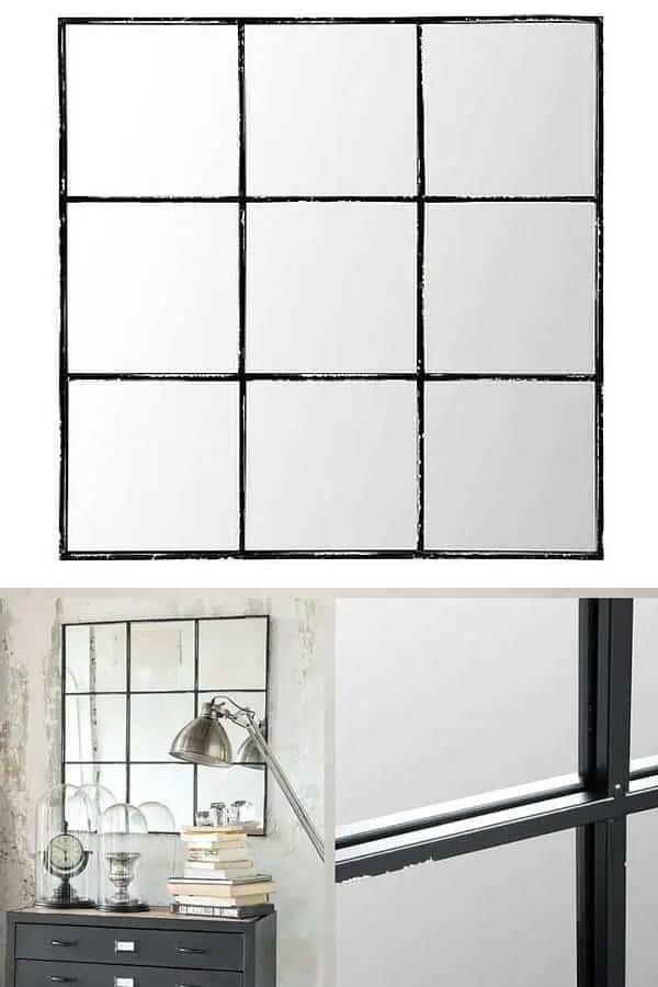 Fabulous Miroir Industriel Quadrill With Miroir Fenetre