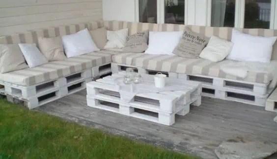 salon de jardin epure et blanc