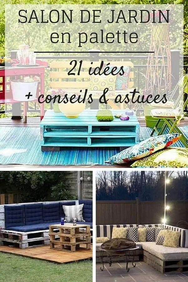 Salon De Jardin En Palette 21 Ides Dcouvrir