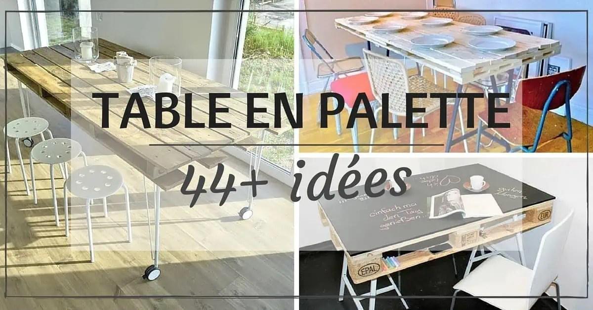 Table En Palette 44 Ides Dcouvrir PHOTOS
