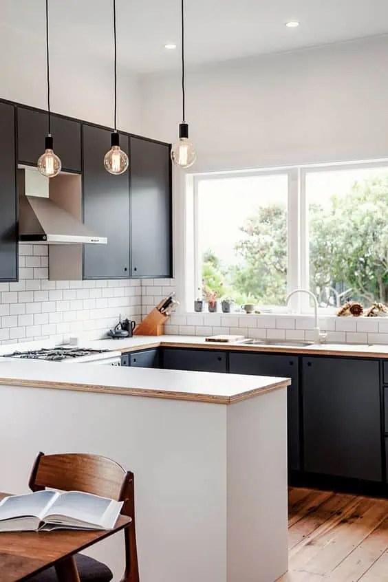 cuisine blanc laqué et bois