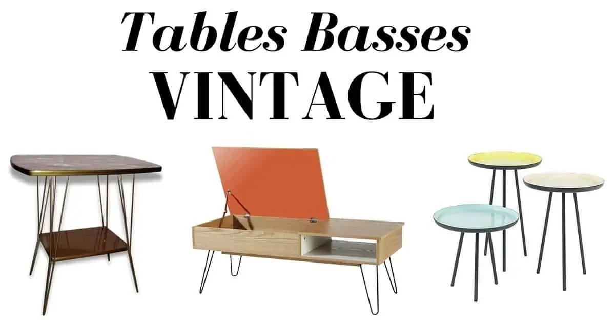 16 superbes tables basses vintage