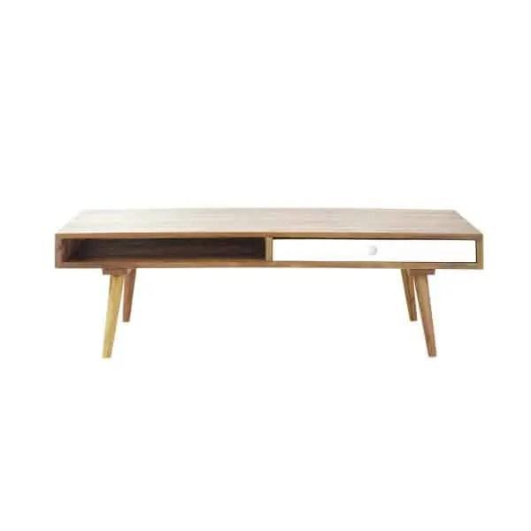 table basse vintage en bois de sheesham