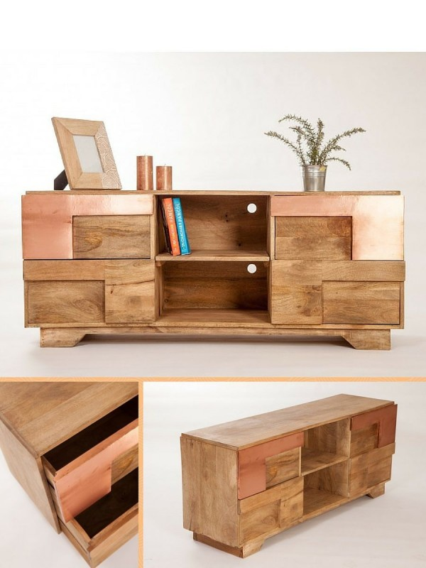 meuble cuisine bois naturel