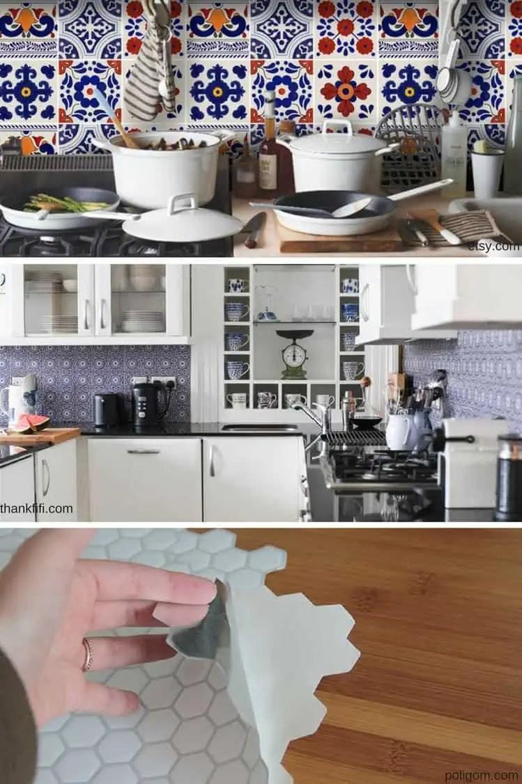 carrelage adhesif pour la cuisine