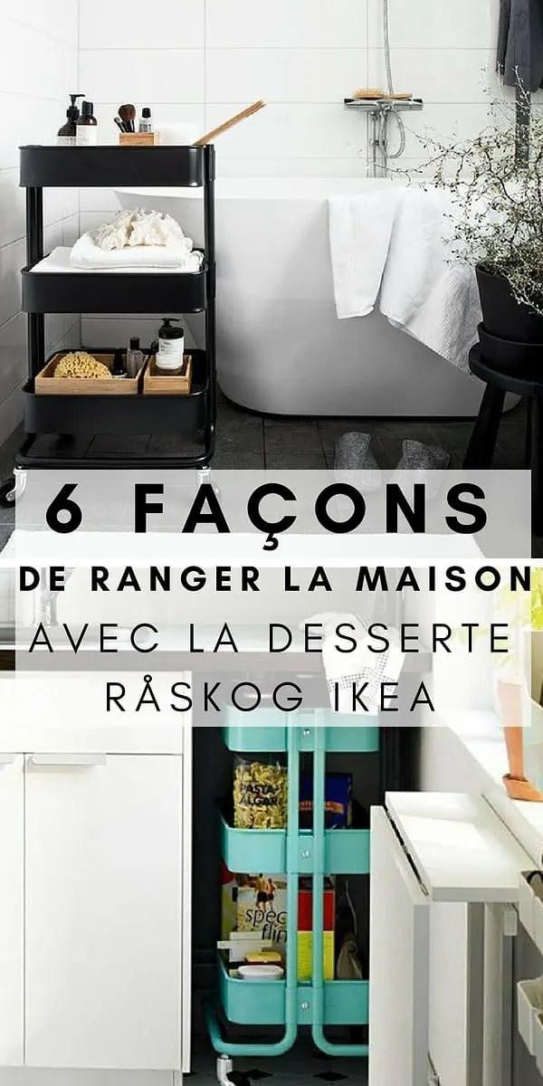 Desserte Råskog Ikea 6 Façons Astucieuses Pour Ranger La