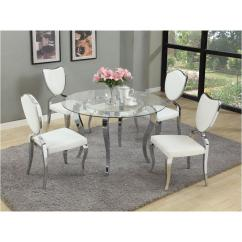 Black Dining Room Chairs With Chrome Legs V Rocker Gaming Chair Letty Gl48 T Chintaly Imports Furniture Dinette Table