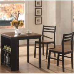 Breakfast Table And Chairs Set Antique Nursing Rocking Chair Value 130015 Coaster Furniture 3 Pc Persia Dining Room Dinette