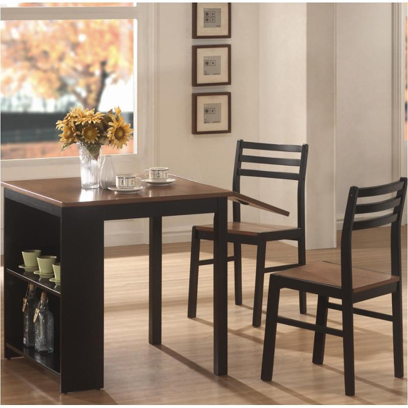 breakfast table and chairs set polywood folding adirondack chair 130015 coaster furniture 3 pc persia dining room dinette